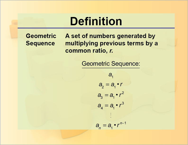 Definition--Geometric Sequence | Media4Math
