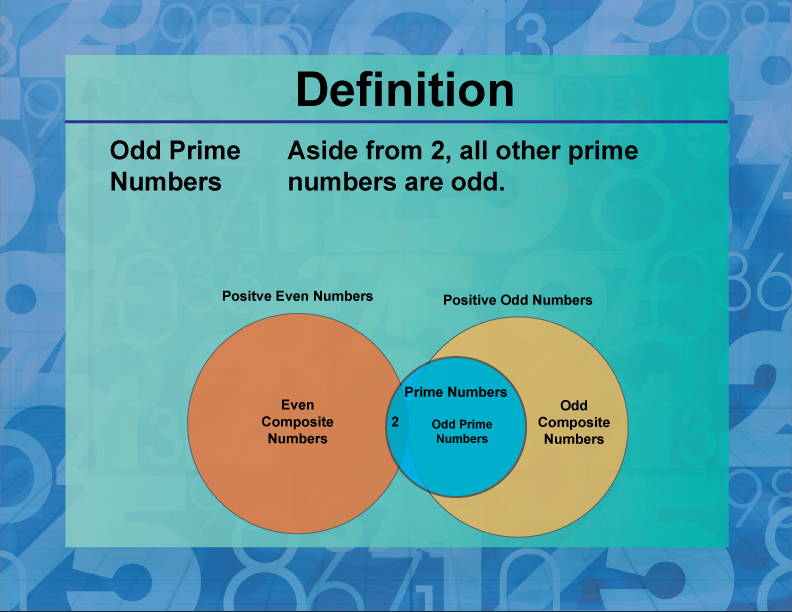 Definition--Prime and Composite Properties--Odd Prime Numbers | Media4Math