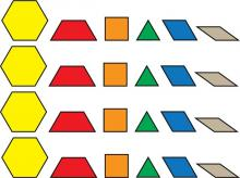 Pattern Blocks. This is a piece of clip art that can be used to create a set of pattern blocks.